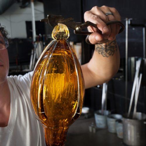 European Glass Art Student Working