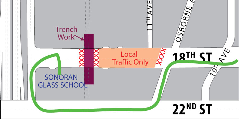Traffic-Alert-How-to-Get-to-Sonoran-Glass-School-for-Barrio-Vidrio-Map