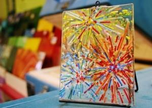 Fourth of July Sun Catcher Sonoran Glass Schoo