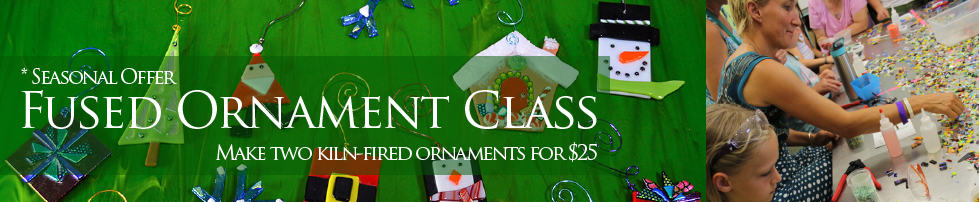 Fused Holiday Ornament Coupon Classes