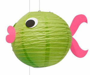 Glow Fish $5 | Build and decorate your own glowing paper lantern blowfish!